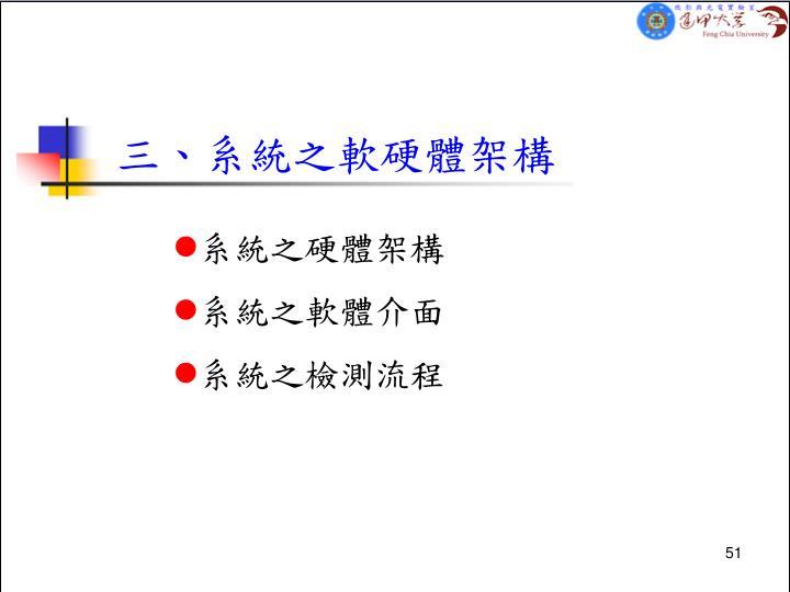 三、系統之軟硬體架構