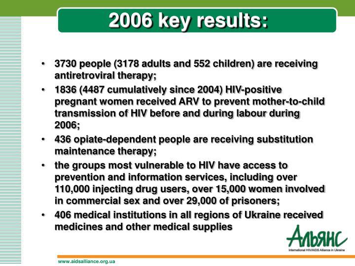 2006 key results: