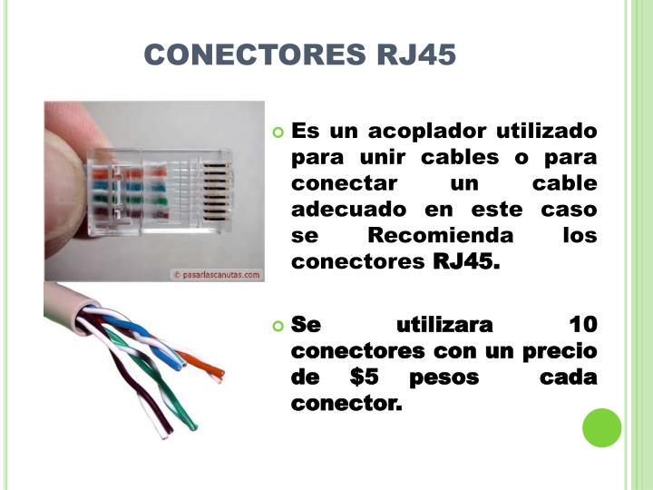 CONECTORES RJ45