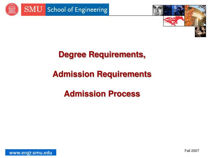 Degree Requirements,