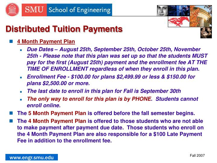 Distributed Tuition Payments