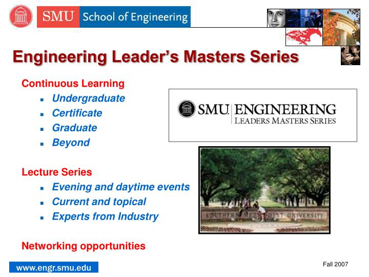 Engineering Leader's Masters Series
