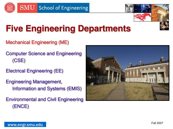 Five Engineering Departments