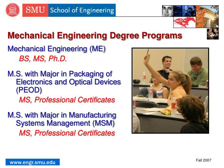 Mechanical Engineering Degree Programs