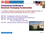professional certificate in electronic packaging fundamentals