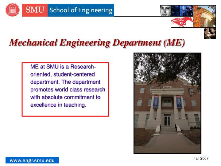 Mechanical Engineering Department (ME)