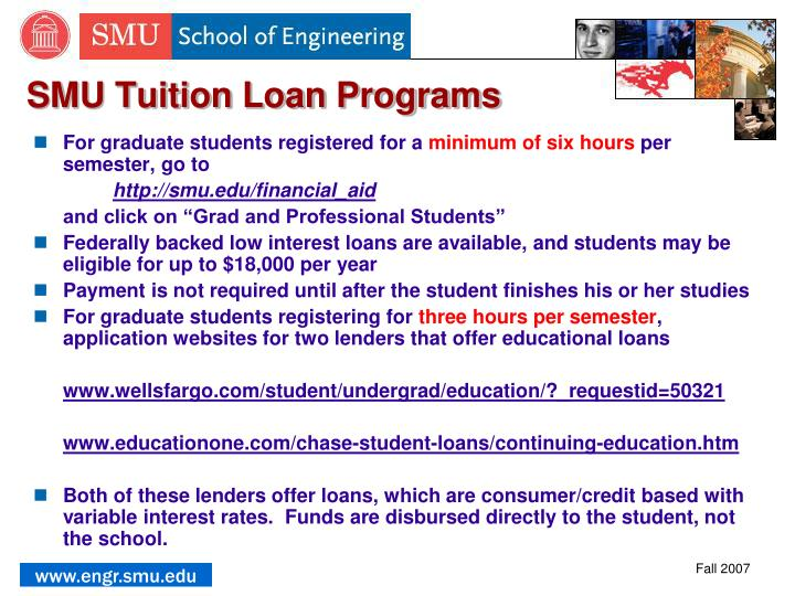 SMU Tuition Loan Programs