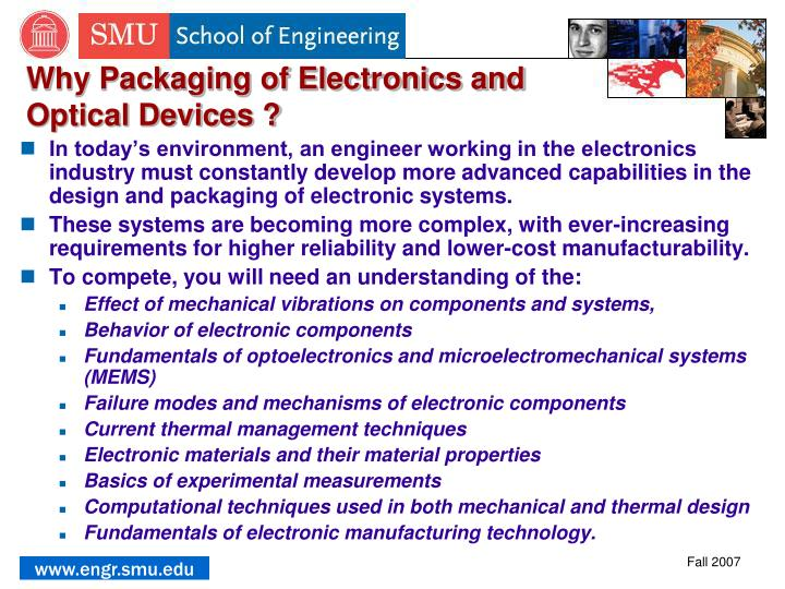 Why Packaging of Electronics and