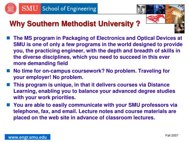 Why Southern Methodist University ?