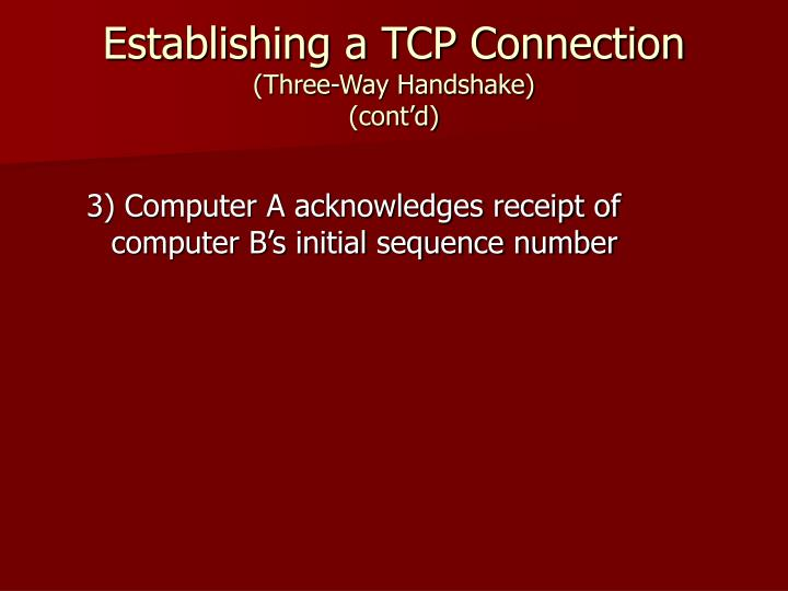 Establishing a TCP Connection