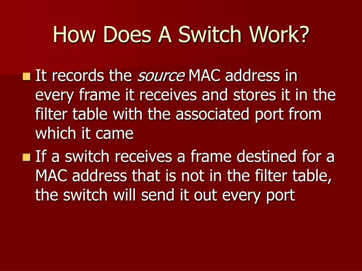 How Does A Switch Work?