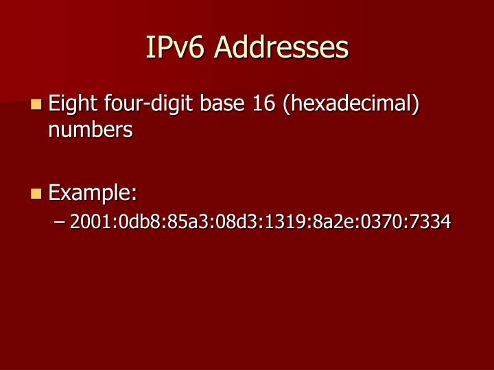 IPv6 Addresses