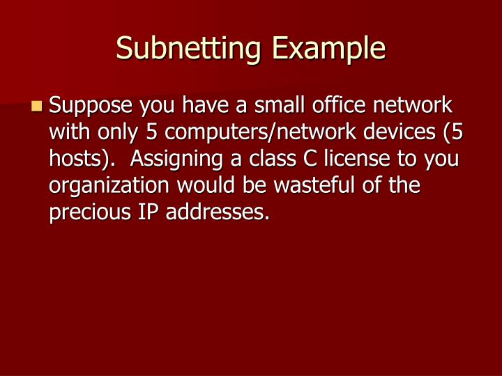 Subnetting Example