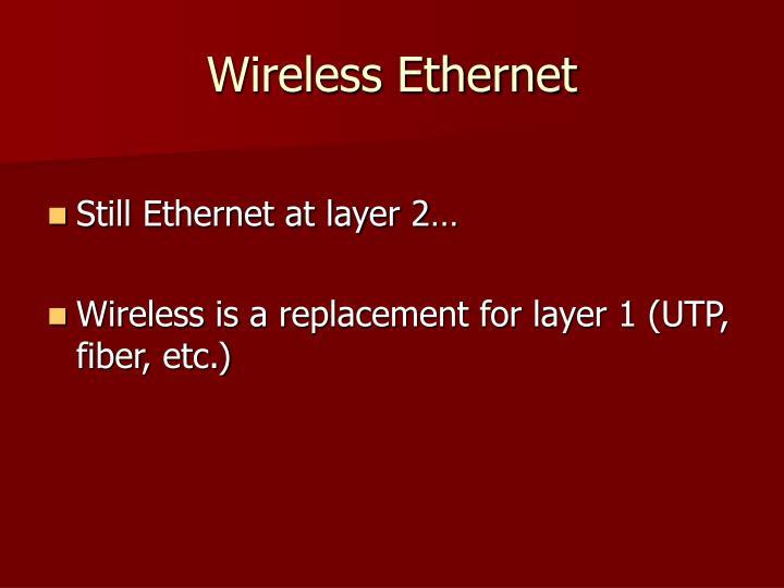 Wireless Ethernet
