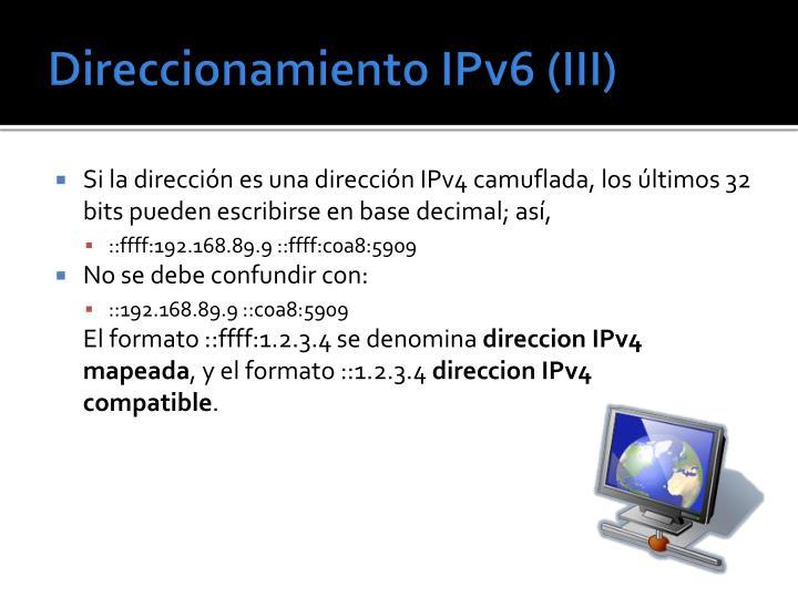 Direccionamiento IPv6 (III)