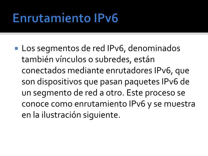 Enrutamiento IPv6