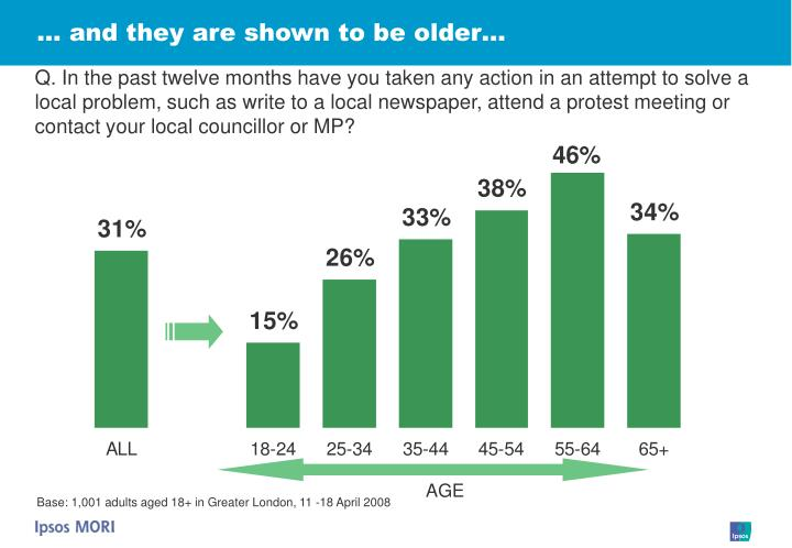 … and they are shown to be older…