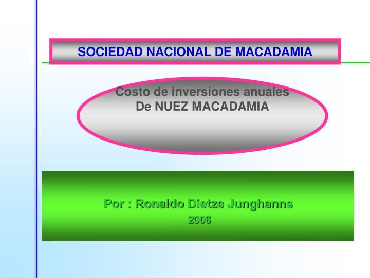 SOCIEDAD NACIONAL DE MACADAMIA