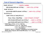 cost of cannon s algorithm