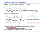 pivoting in gaussian elimination