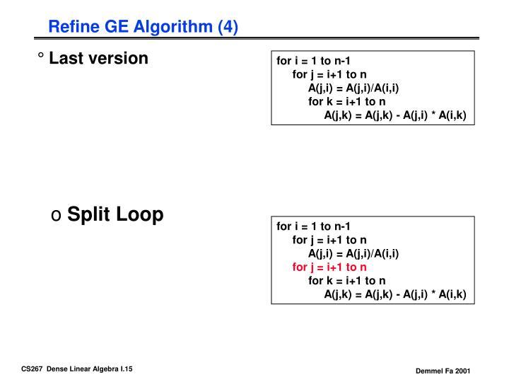 Refine GE Algorithm (4)