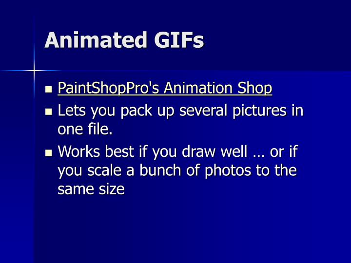 Animated GIFs