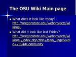 the osu wiki main page