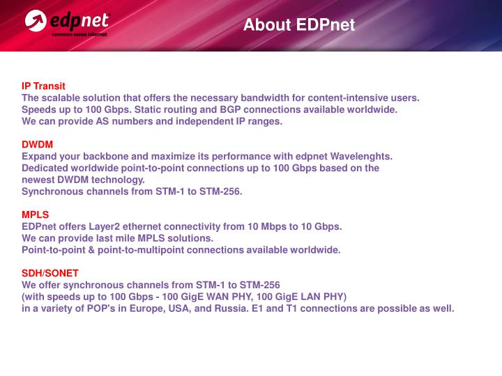 About EDPnet
