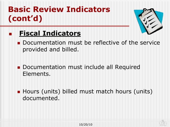 Basic Review Indicators