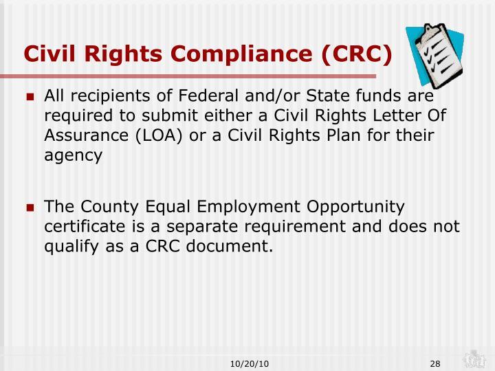 Civil Rights Compliance (CRC)