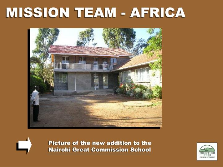 MISSION TEAM - AFRICA