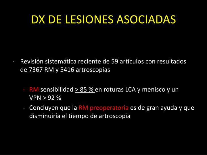 DX DE LESIONES ASOCIADAS