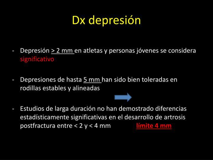 Dx depresión