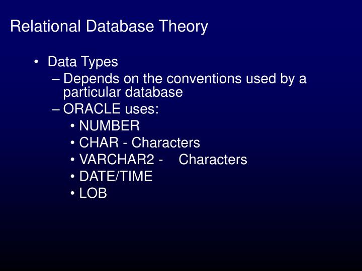 Relational database theory1