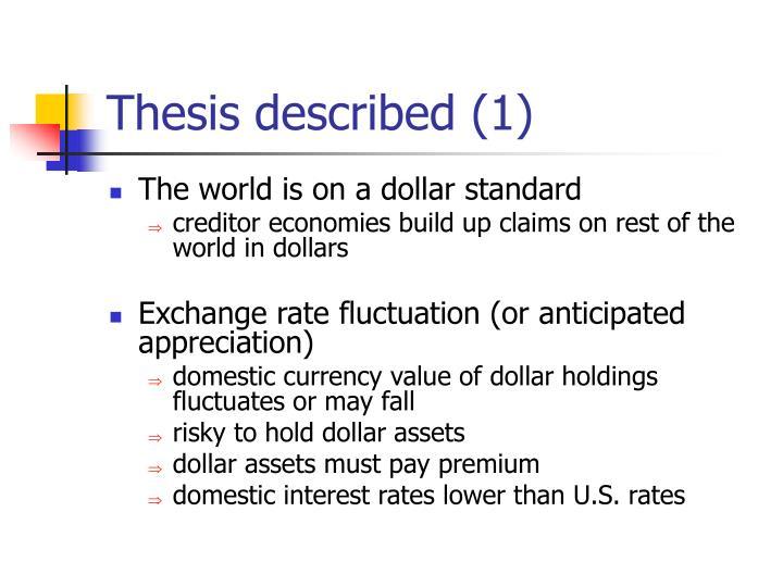 Thesis described (1)