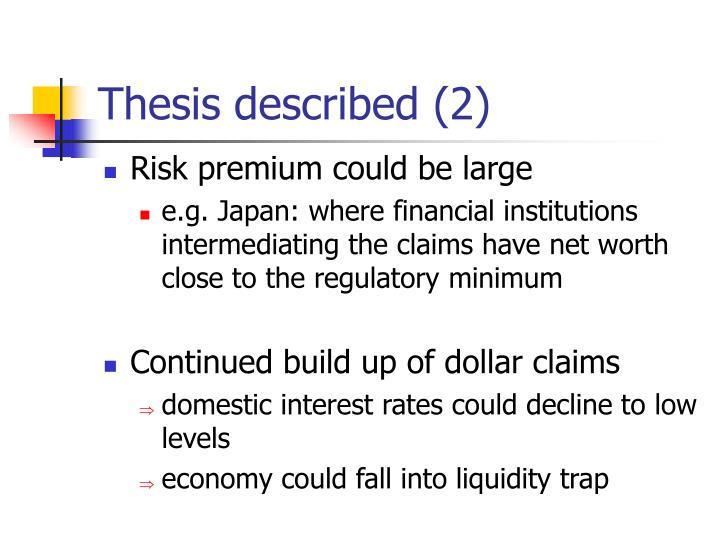 Thesis described (2)