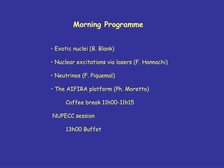 Morning Programme