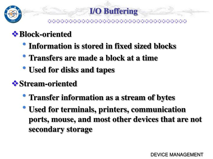 I/O Buffering