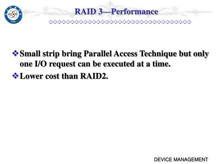 RAID 3—Performance