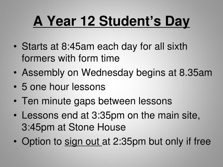 A Year 12 Student