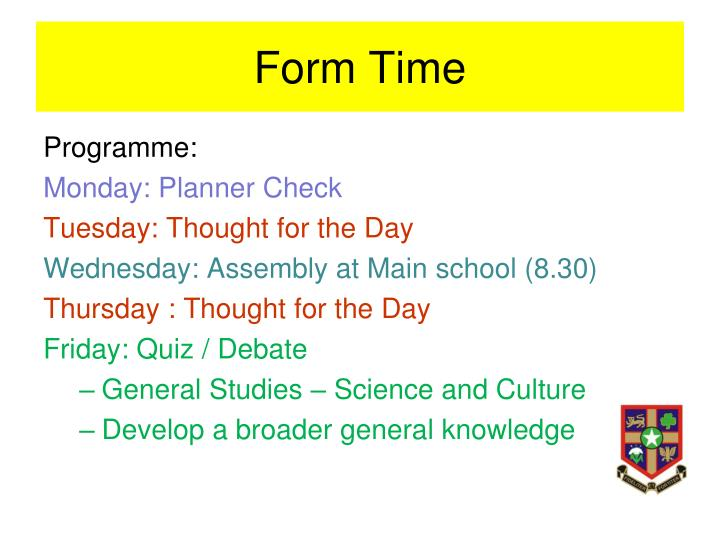 Form Time
