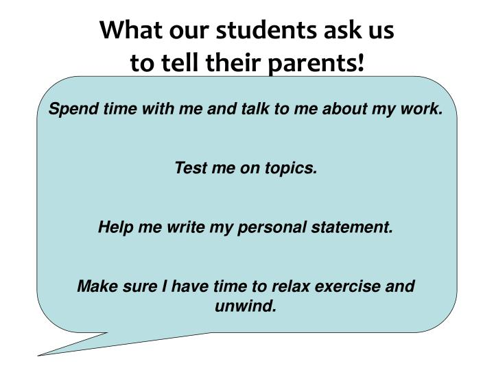 What our students ask us