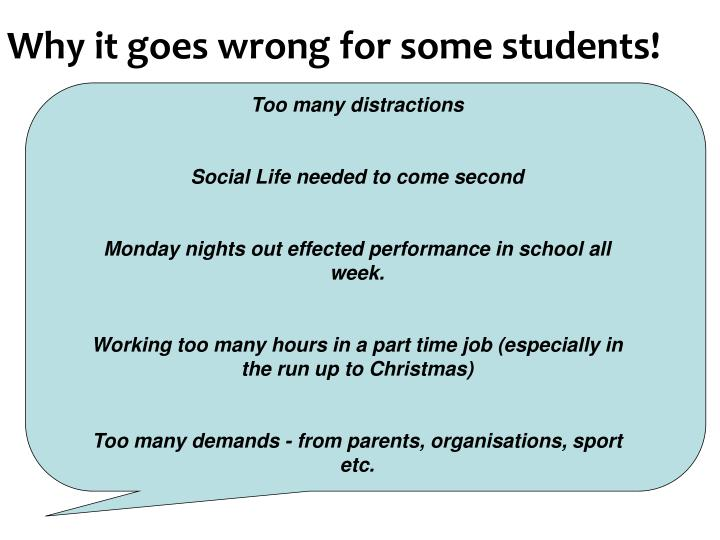 Why it goes wrong for some students!