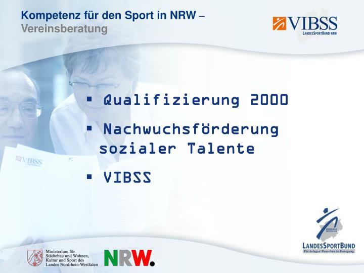 Qualifizierung 2000