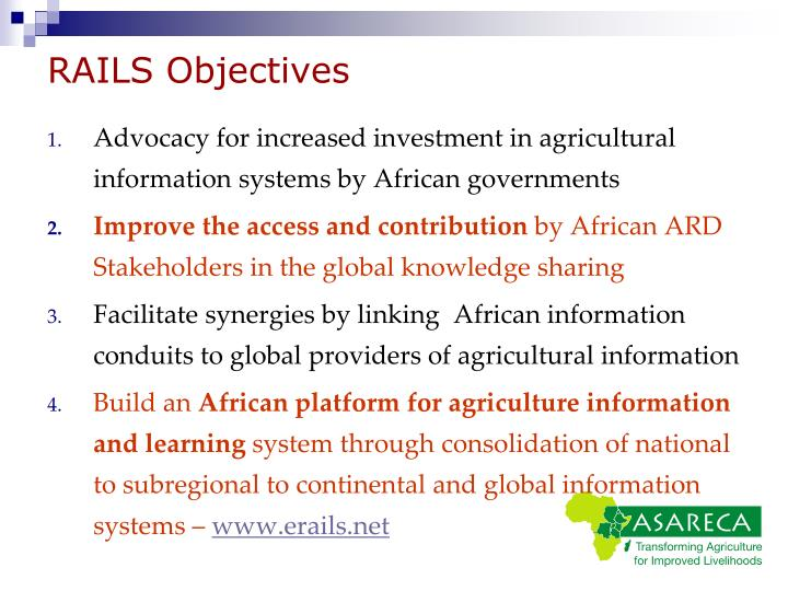 RAILS Objectives