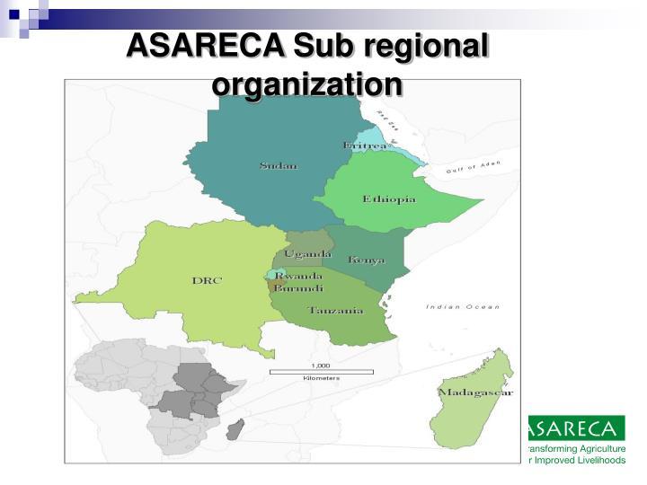 ASARECA Sub regional organization