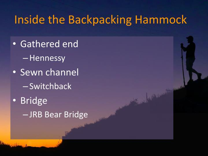 Inside the Backpacking Hammock