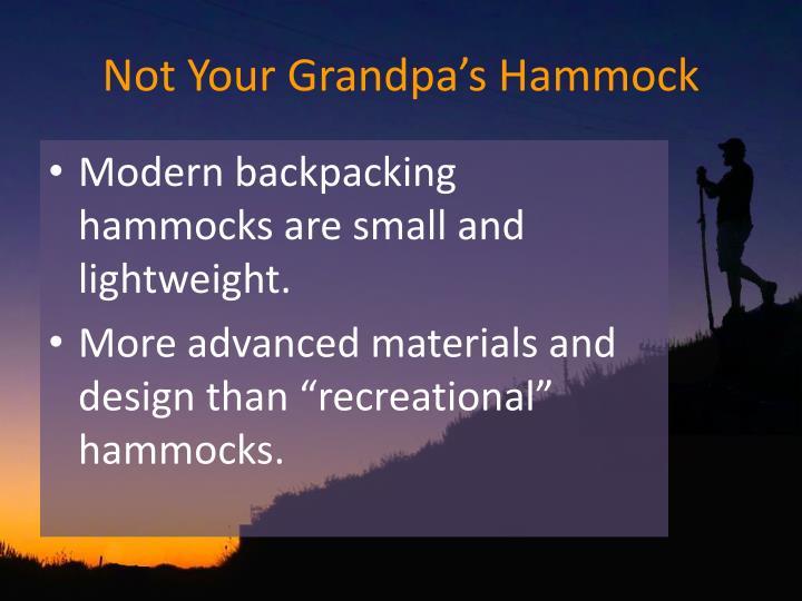 Not Your Grandpa's Hammock