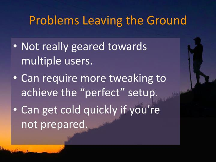 Problems Leaving the Ground