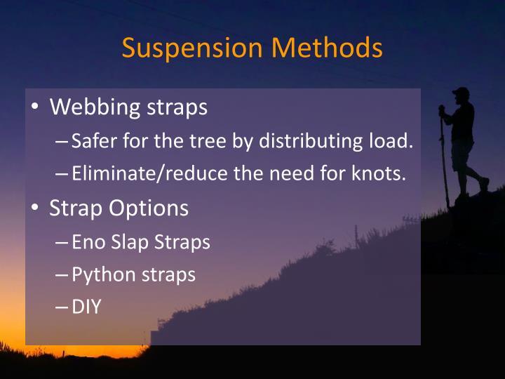 Suspension Methods